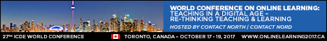 ICDE World Conference 27 Toronto Canada Banner
