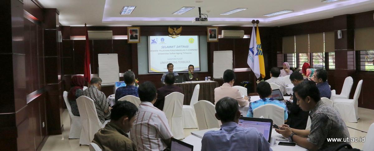 Pelatihan E-learning Untirta 2018