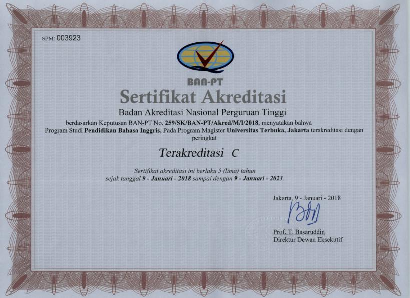 Akreditasi Perguruan Tinggi Negeri Se Indonesia