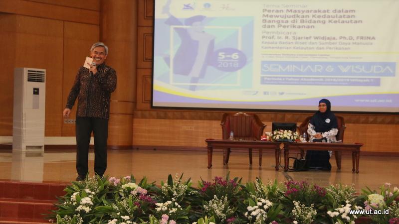 Kepala Badan Riset dan Sumber Daya Manusia Kementerian Kelautan dan Perikanan Prof. Ir. R. Sjarief Widjaja. Ph.D. FRINA