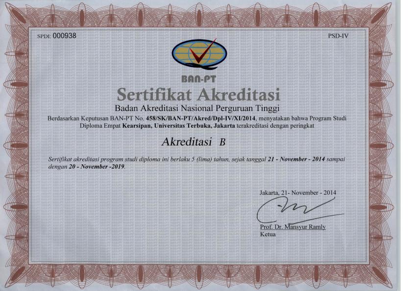 33+ Surat akreditasi perguruan tinggi ut terbaru terbaru